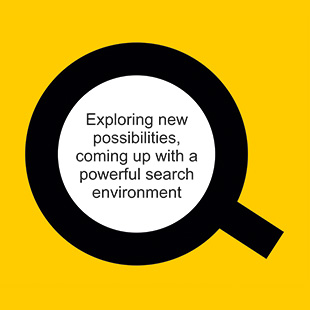 "DTWISE wise_search Logo with Strap line stating ""Exploring new possibilities, coming up with a powerful search environment"""